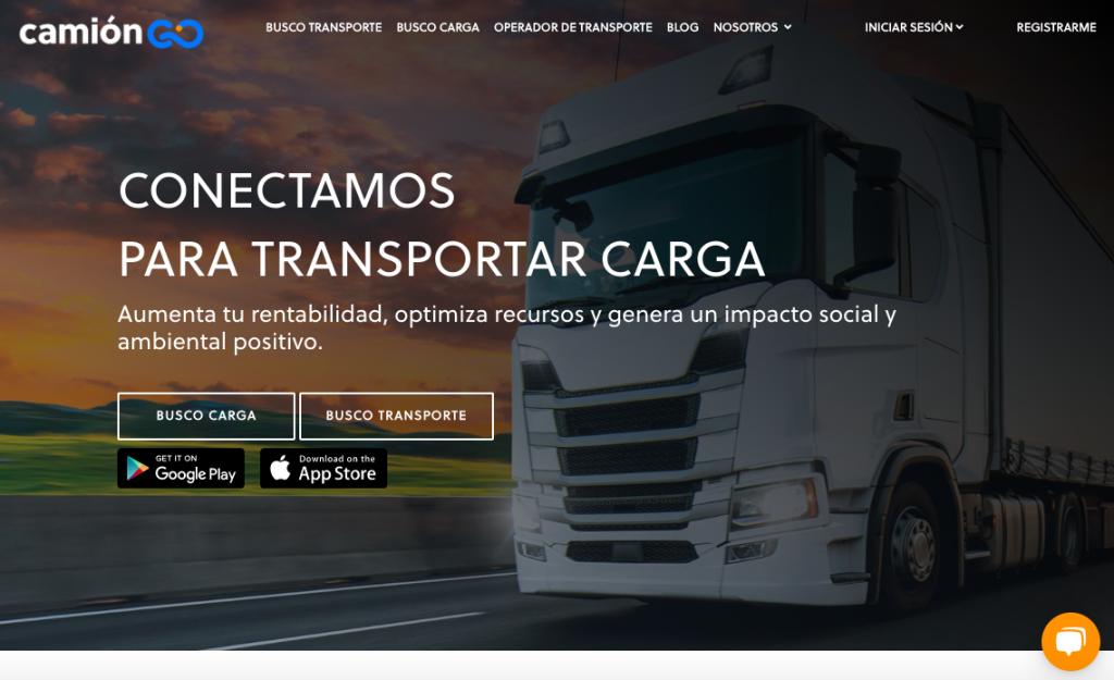 Diseño de sitio web realizado por Cebra para Camión Go